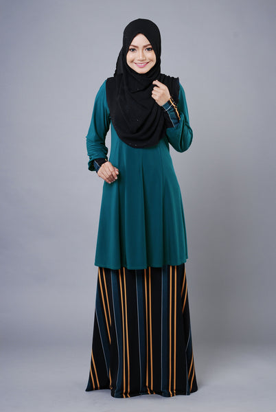 SR034H - RAISYA (Top+Skirt) - Butik NURSAFIA