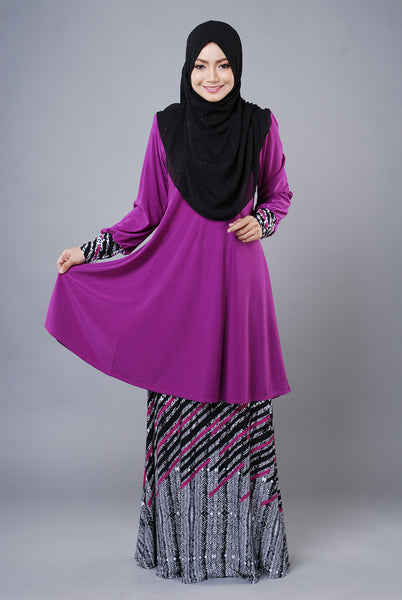 SR035B - RAISYA (Top+Skirt) - Butik NURSAFIA