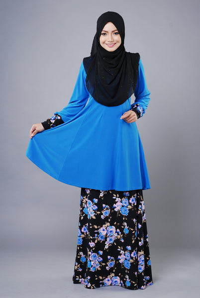 SR035D - RAISYA (Top+Skirt) - Butik NURSAFIA