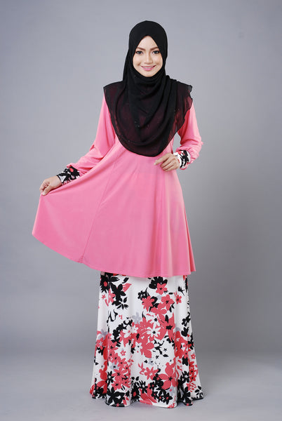 SR035F - RAISYA (Top+Skirt) - Butik NURSAFIA