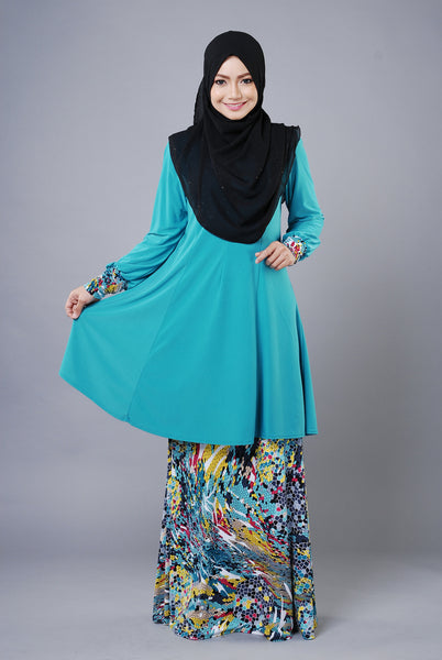 SR035G - RAISYA (Top+Skirt) - Butik NURSAFIA