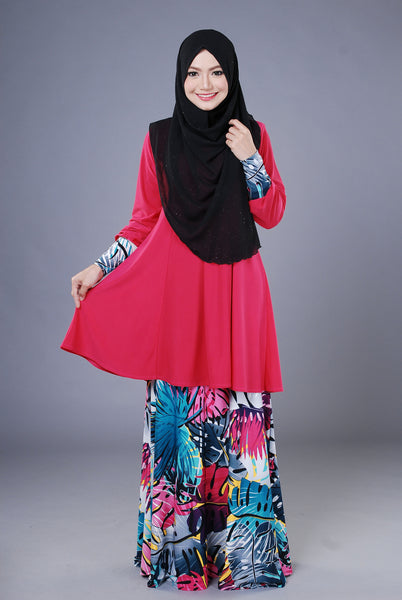 SR042D - RAISYA (Top+Skirt) - Butik NURSAFIA
