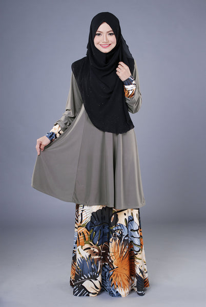 SR040D - RAISYA (Top+Skirt) - Butik NURSAFIA