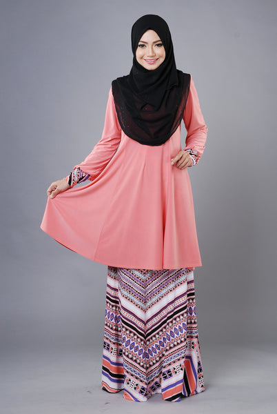 SR029F - RAISYA (Top+Skirt) - Butik NURSAFIA