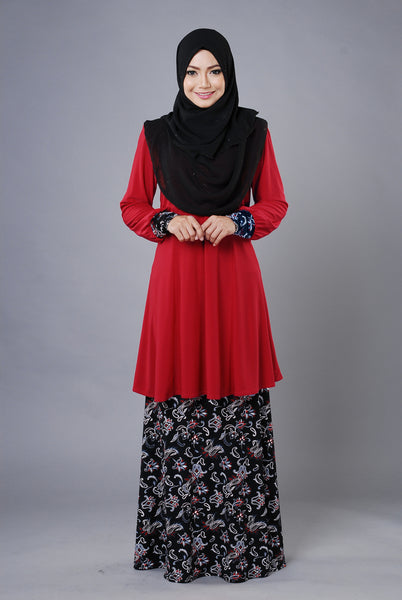 SR030A - RAISYA (Top+Skirt) - Butik NURSAFIA