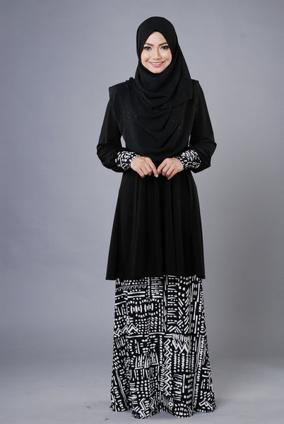 SR030D - RAISYA (Top+Skirt) - Butik NURSAFIA