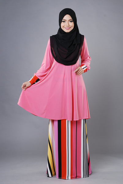 SR030G - RAISYA (Top+Skirt) - Butik NURSAFIA