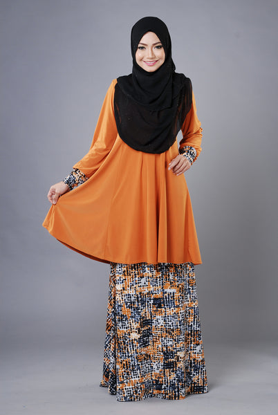 SR030H - RAISYA (Top+Skirt) - Butik NURSAFIA