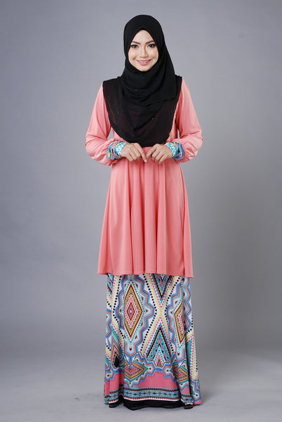 SR031C - RAISYA (Top+Skirt) - Butik NURSAFIA