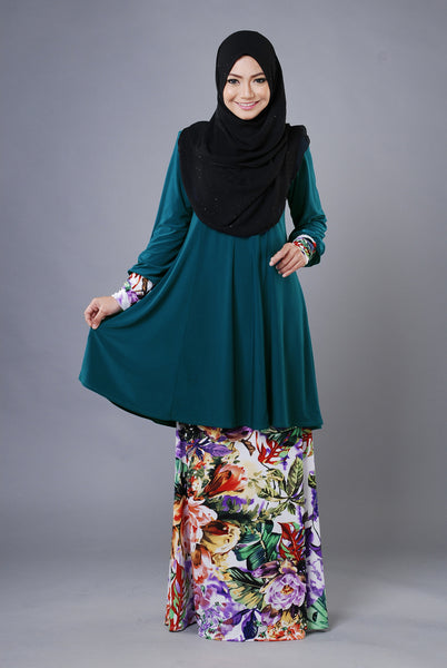 SR031D - RAISYA (Top+Skirt) - Butik NURSAFIA