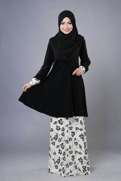 SR031E - RAISYA (Top+Skirt) - Butik NURSAFIA