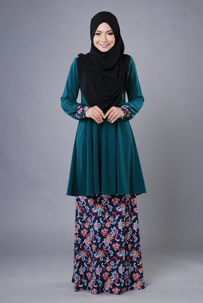 SR031G - RAISYA (Top+Skirt) - Butik NURSAFIA