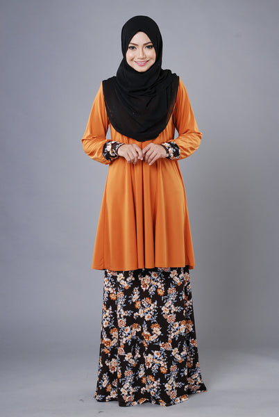 SR032C - RAISYA (Top+Skirt) - Butik NURSAFIA