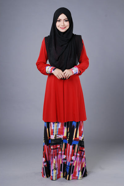 SR038D - RAISYA (Top+Skirt) - Butik NURSAFIA