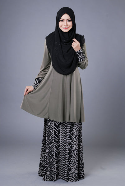 SR039E - RAISYA (Top+Skirt) - Butik NURSAFIA