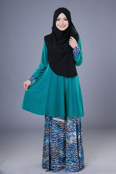 SR040F - RAISYA (Top+Skirt) - Butik NURSAFIA