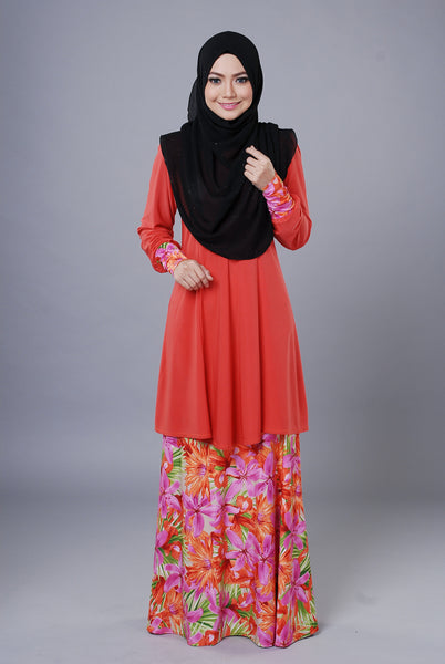 SR051F - RAISYA (Top+Skirt) - Butik NURSAFIA