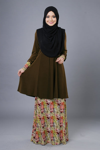SR052D - RAISYA (Top+Skirt) - Butik NURSAFIA