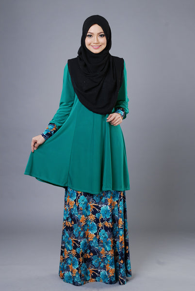 SR052F - RAISYA (Top+Skirt) - Butik NURSAFIA