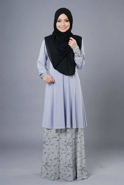 SR052H - RAISYA (Top+Skirt) - Butik NURSAFIA