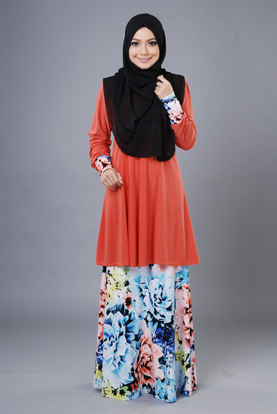 SR053D - RAISYA (Top+Skirt) - Butik NURSAFIA