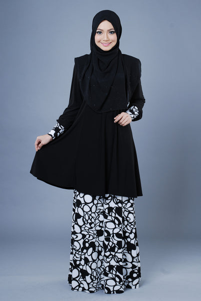 SR053E - RAISYA (Top+Skirt) - Butik NURSAFIA