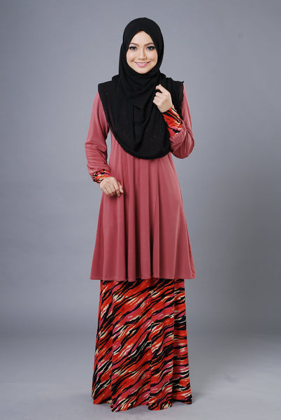 SR053F - RAISYA (Top+Skirt) - Butik NURSAFIA