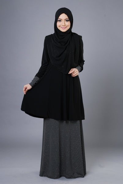 SR053H - RAISYA (Top+Skirt) - Butik NURSAFIA