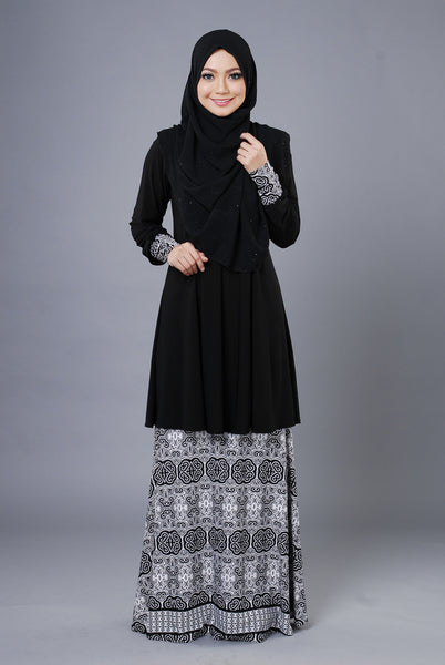 SR054B - RAISYA (Top+Skirt) - Butik NURSAFIA