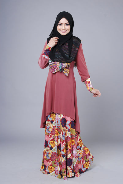 SA014E - AUFA (Top+Skirt) - Butik NURSAFIA
