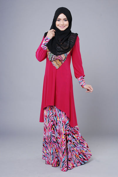 SA014F - AUFA (Top+Skirt) - Butik NURSAFIA