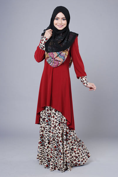 SA015A - AUFA (Top+Skirt) - Butik NURSAFIA