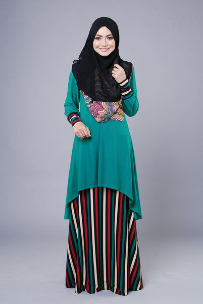 SA015D - AUFA (Top+Skirt) - Butik NURSAFIA