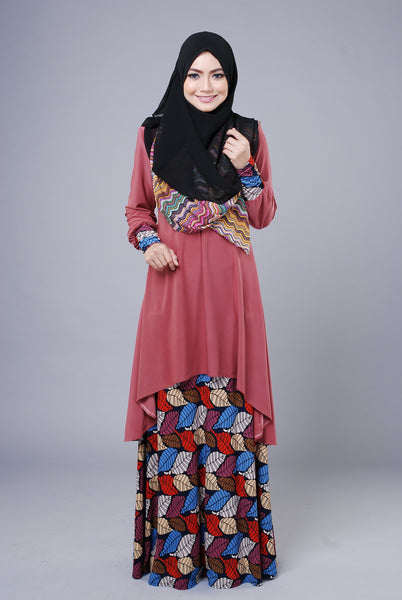 SA015F - AUFA (Top+Skirt) - Butik NURSAFIA