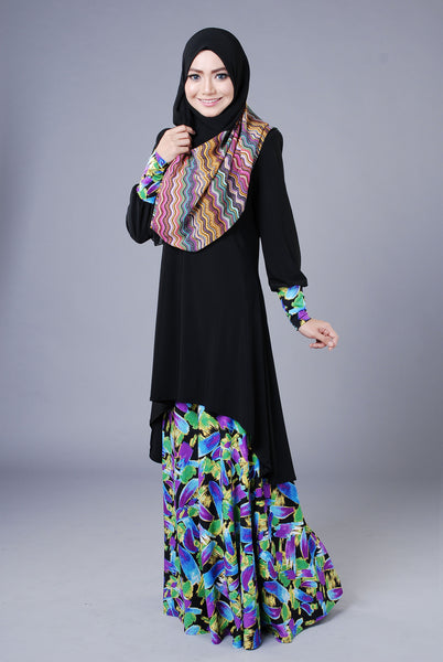 SA016G - AUFA (Top+Skirt) - Butik NURSAFIA