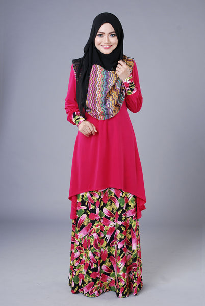 SA016H - AUFA (Top+Skirt) - Butik NURSAFIA