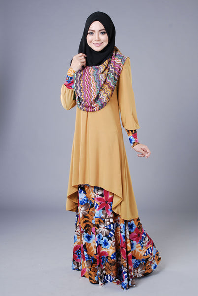 SA017H - AUFA (Top+Skirt) - Butik NURSAFIA