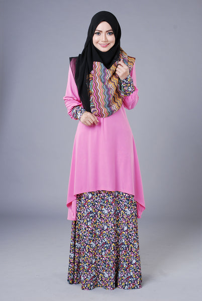 SA018C - AUFA (Top+Skirt) - Butik NURSAFIA