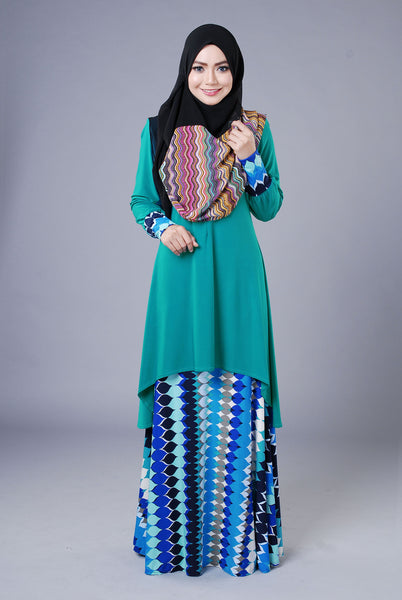 SA018D - AUFA (Top+Skirt) - Butik NURSAFIA