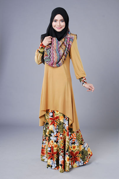 SA018G - AUFA (Top+Skirt) - Butik NURSAFIA