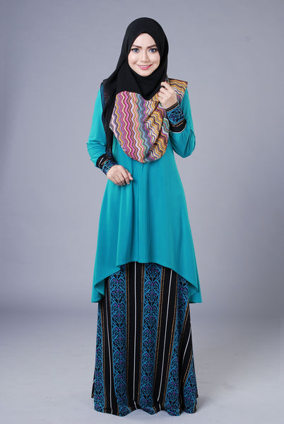SA018H - AUFA (Top+Skirt) - Butik NURSAFIA