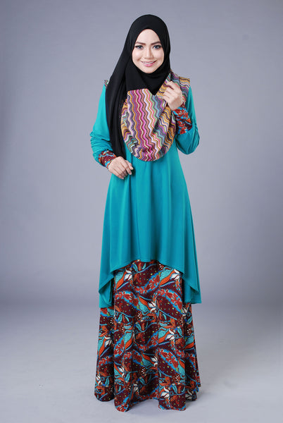 SA019C - AUFA (Top+Skirt) - Butik NURSAFIA