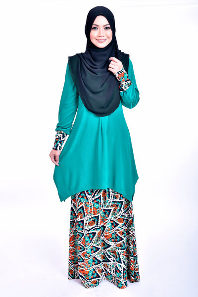 SB008C - BUSHRA (Top+Skirt) - Butik NURSAFIA