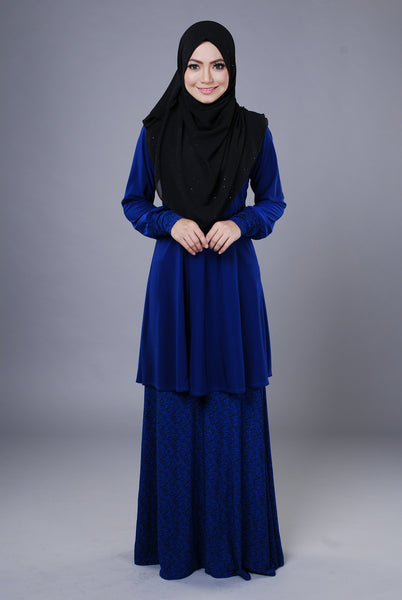 SR043H - RAISYA (Top+Skirt) - Butik NURSAFIA