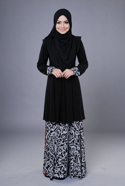 SR044C - RAISYA (Top+Skirt) - Butik NURSAFIA