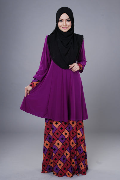 SR044E - RAISYA (Top+Skirt) - Butik NURSAFIA