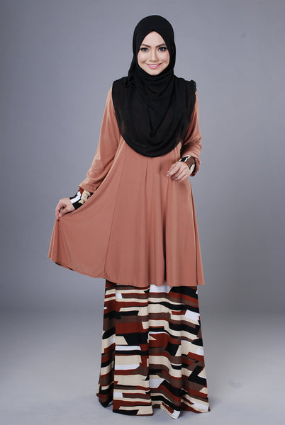 SR044G - RAISYA (Top+Skirt) - Butik NURSAFIA