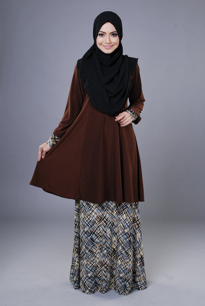 SR044H - RAISYA (Top+Skirt) - Butik NURSAFIA