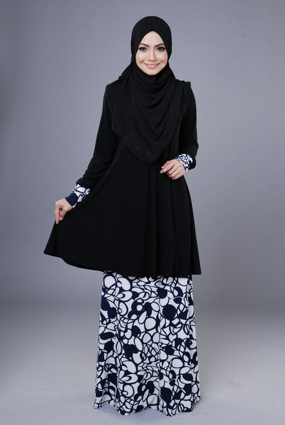 SR046A - RAISYA (Top+Skirt) - Butik NURSAFIA