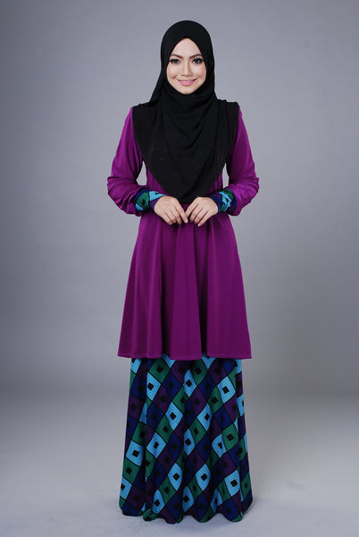 SR046B - RAISYA (Top+Skirt) - Butik NURSAFIA